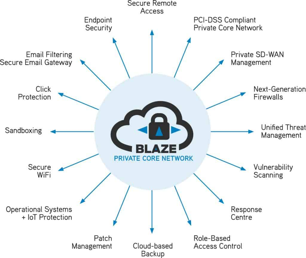 Blaze offers a comprehensive rance of cybersecurity services